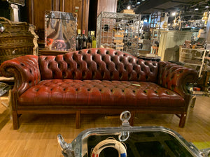Red Chesterfield Sofa- 3 Seater