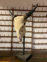 Load image into Gallery viewer, Large Water Buffalo Antler on Stand