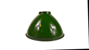 Retro Enamel Dome Hanging Light- Green (UL Listed)