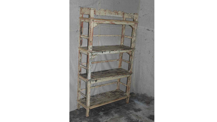 Farmhouse White Shelf Rack