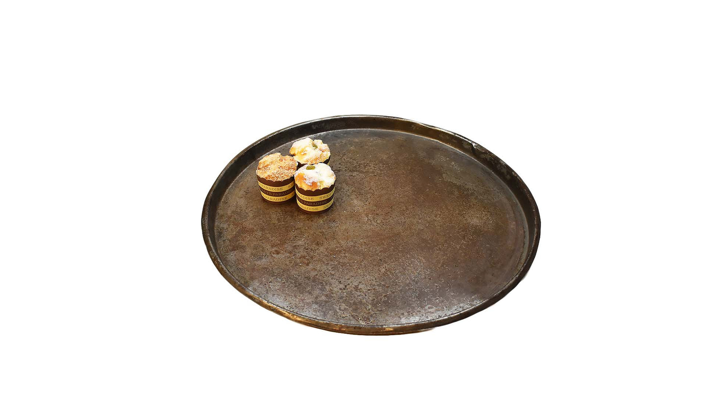 Vintage Kitchen Tray | Distressed Metal Tray | Antique Large Rusty Tray | Farmhouse Kitchen Style