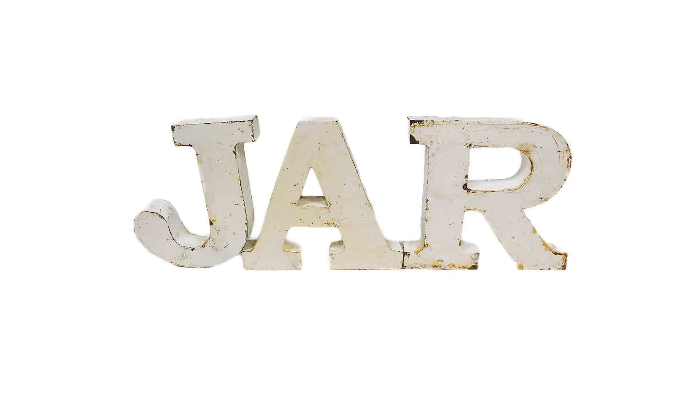 Distressed Metal Letters