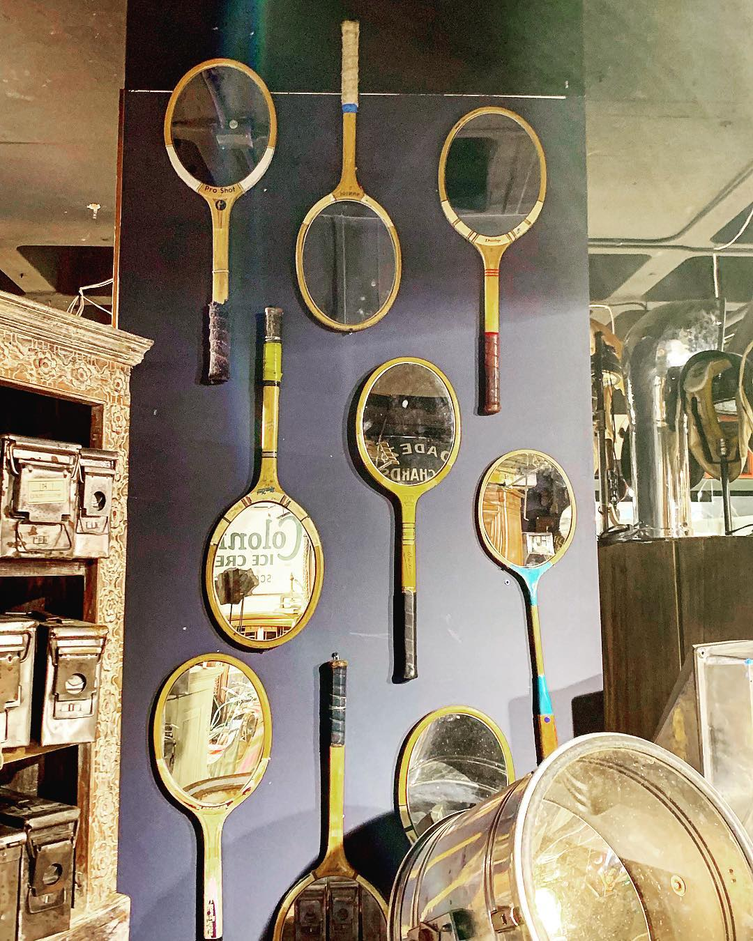 Vintage Tennis Racket Mirror | Upcycled Wall Art