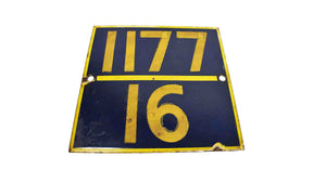 Vintage Railway Sign Boards | Metal Sign boards |Rustic Wall Decor | Train Track Marker