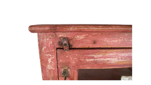 Rustic Burnt Orange Cabinet