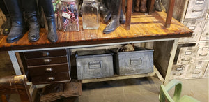 Brown Top Industrial Table #152