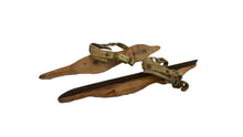 Load image into Gallery viewer, Vintage Wooden Pair of Ice Skates Pair