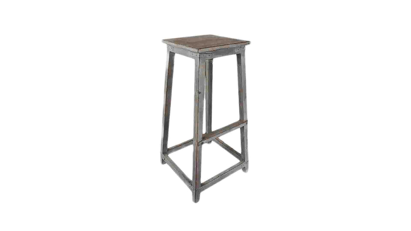 Tall Distressed Stool