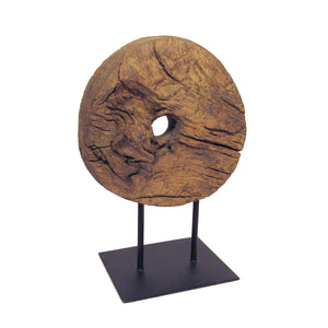 Wooden Wheel on Stand- Large