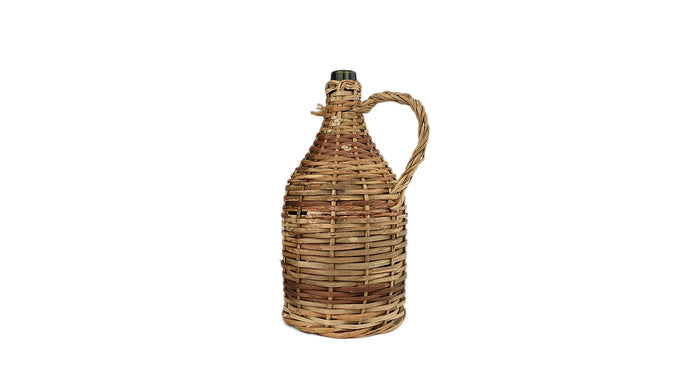 Antique French Wicker Wine Demijohn Jug (Medium)