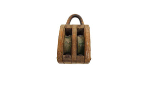 Vintage Wooden Nautical Style Pulley