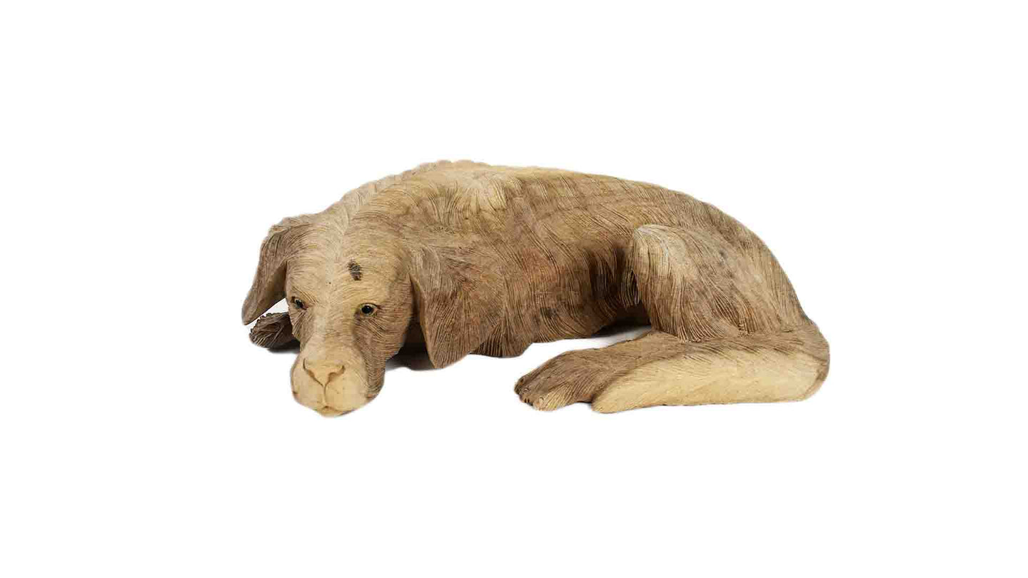 Wooden Sleeping Dog