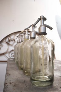 Seltzer Bottle Vintage- Clear