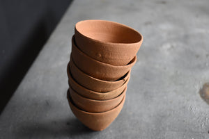 Terracotta Tea Cups with Holster| Candle Holder | Clay Handmade Eco Friendly Planter