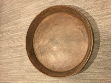 Load image into Gallery viewer, Large Rustic Metal Bowl, Industrial Wine Decor Plate, Rustic Patio Decor