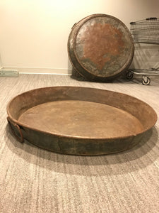 Large Rustic Metal Bowl, Industrial Wine Decor Plate, Rustic Patio Decor