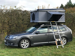 Streamline Transporter - Hard Shell Roof Tent. 125cm W  Small Double Bed size