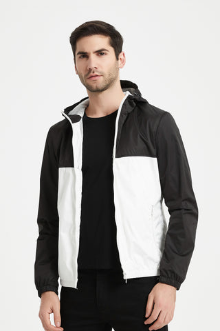 Blouson coupe-vent bi-color