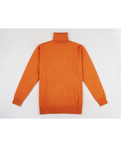 "Pull col roulé orange ""cashmere Touch"""