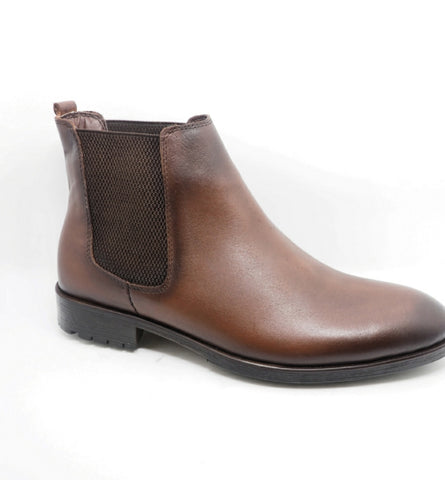 Boots Cuir lisse marron
