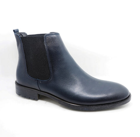 Boots Cuir lisse Marine