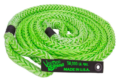 KINETIC RECOVERY ROPE 7/8 INCH X 20 FOOT GREEN WITH ROPE BAG