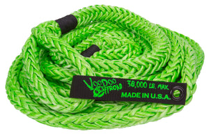 KINETIC RECOVERY ROPE 7/8 INCH X 30 FOOT GREEN WITH ROPE BAG