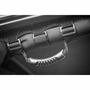 Rugged Ridge Grab Handle Kit, Rear, Black; 07-18 Jeep Wrangler JKU