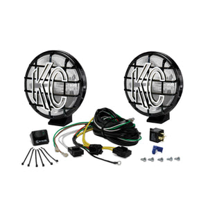 "6"" Apollo Pro Halogen Pair Pack System - Black - KC #150 (Spot Beam)"