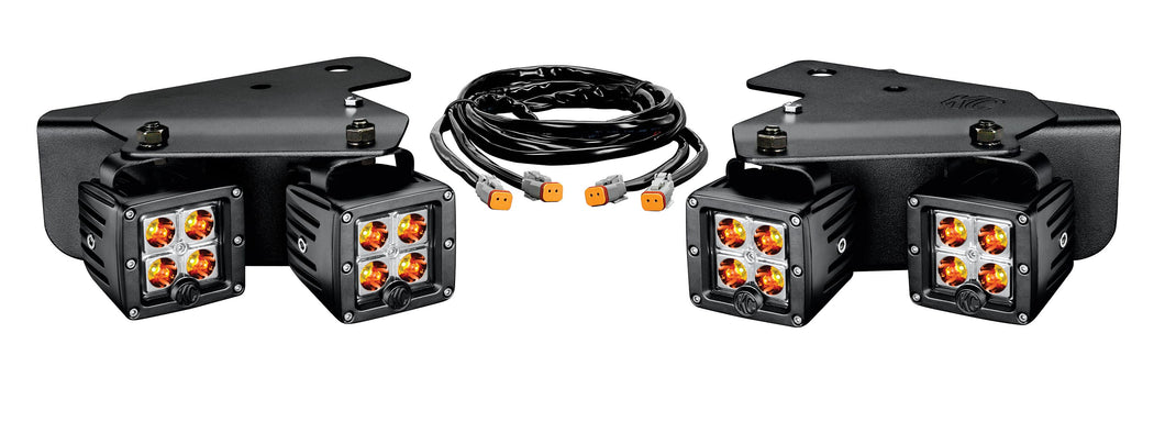 Ford Raptor; Amber C3 LED x4 Kit w/ Harness 10-15 #342