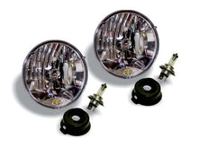 "Load image into Gallery viewer, 7"" Halogen Headlight Pair Pack System - H4 DOT - KC #42301"