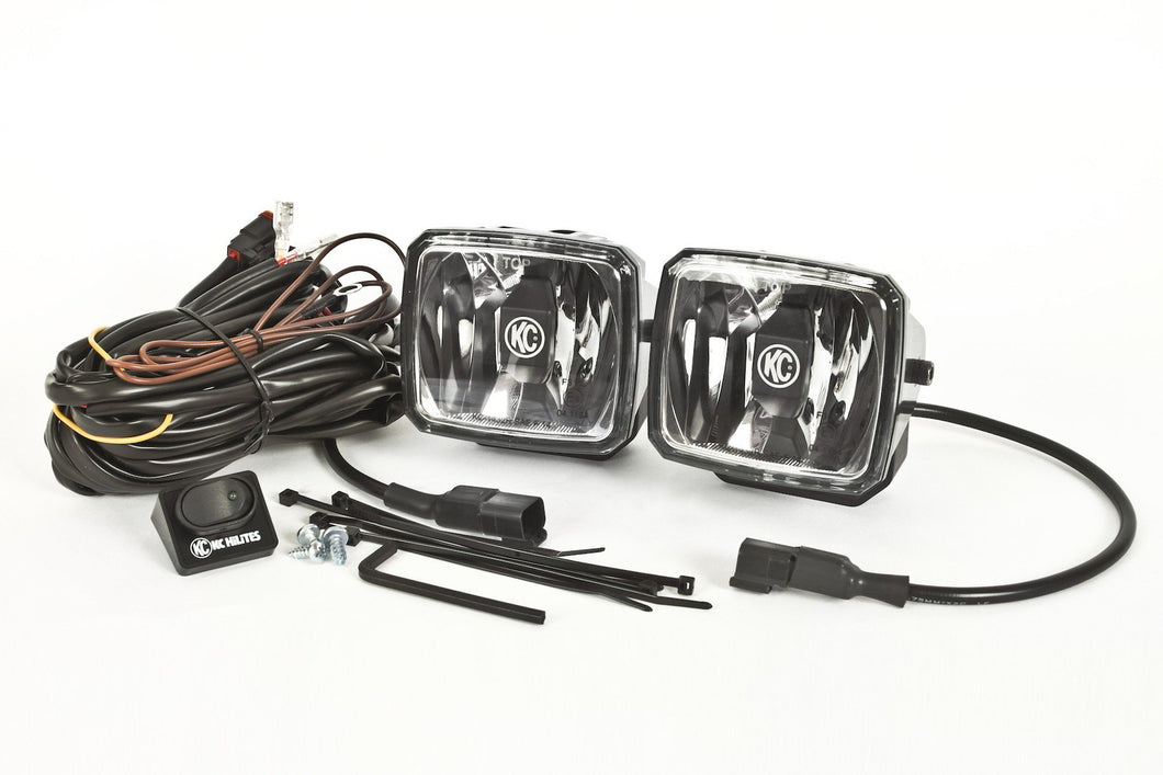 Gravity® LED G34 Driving Beam SAE/ECE Pair Pack Light System - KC #431