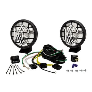 "5"" Apollo Pro Halogen Pair Pack System - Black - KC #450 (Spot Beam)"