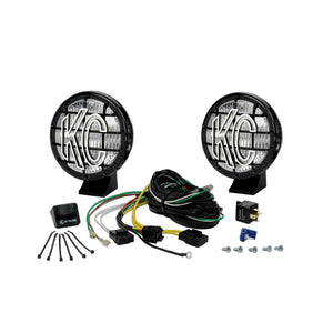 "5"" Apollo Pro Halogen Pair Pack System - Black - KC #452 (Fog Beam)"