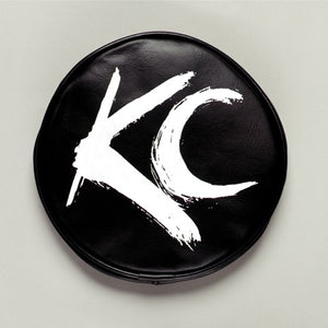 "6"" Vinyl Cover - KC #5117 (Black with White Brushed KC Logo)"