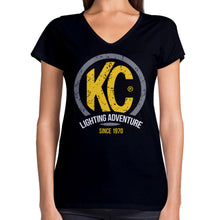 Load image into Gallery viewer, KC Lighting Adventure Womens' Tee Black T-Shirt