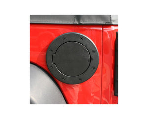Gas Cap Door, Non-Locking, Black; 07-18 Jeep Wrangler JK