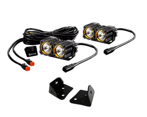 KIT - Jeep JK FLEX LED Dual Spot + A-Pillar Brkts
