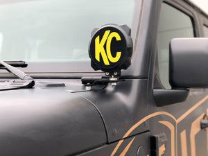 KC 2018-2019 Jeep JL A-Pillar Gravity LED Pro6 Driving Beam Light Kit - #97112
