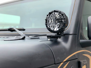 KC 2018-2019 Jeep JL A-Pillar Gravity LED Pro-Sport (Spot) Light Kit - #97115