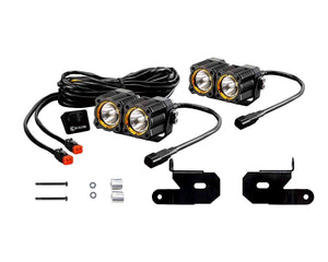 KC 2018-2019 Jeep JL A-Pillar FLEX™ LED Dual Spot Beam Light Kit - #97121