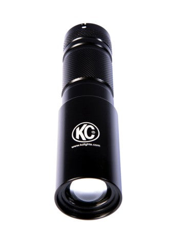 LED Flashlight Adjustable Focus - Black - KC #9923