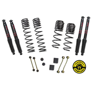 SKYJACKER - Jeep Wrangler JL 2-Door Rubicon 4WD 2-2.5 in. Dual Rate-Long Travel Lift Kit System with Black MAX Shocks