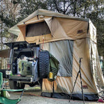 "TUFF STUFF® ""RANGER"" OVERLAND ROOF TOP JEEP & TRUCK TENT, 3 PERSON & ANNEX"