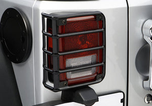RUGGED RIDGE EURO GUARD PAIR TAIL LIGHT BLACK