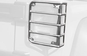 RUGGED RIDGED TAIL LIGHT EURO GUARDS POLISHED STAINLESS STEEL
