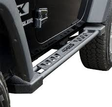 ARIES 07-15 WRANGLER JEEP 2 DOOR ROCKER STEPS BLACK POWDERCOAT