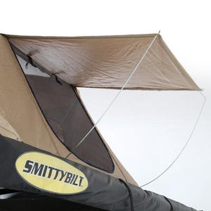 SMITTYBILT OVERLAND TENT, FOLDED WITH BEDDING