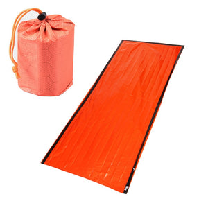 New Emergency Sleeping Bag Emergency First Aid Sleeping Bag PE Aluminum Film Tent For Outdoor Camping and Hiking Sun Protection
