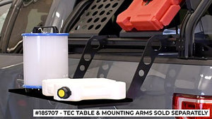 TEC TABLE WITH MOUNTING ARMS